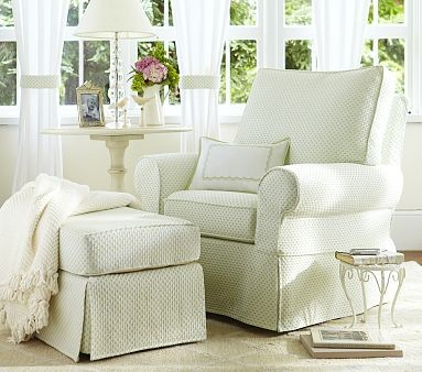 Comfort Swivel Glider & Ottoman traditional-rocking-chairs-and-gliders