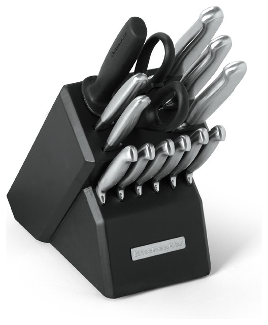 Kitchenaid Stainless Steel 14 Piece Pro Knife Set Contemporary Knife Sets By