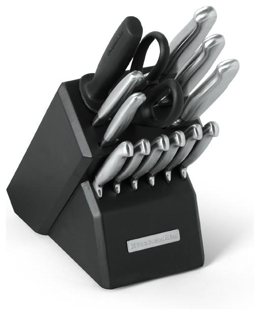kitchenaid stainless steel 14 piece pro knife set johann kuppels professional sharp line kitchen knife ebay