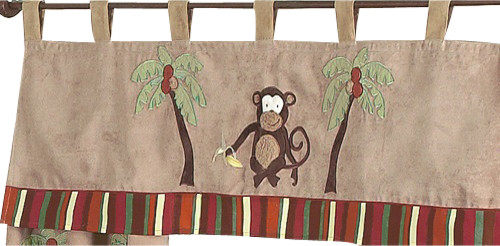 Monkey Window Valance contemporary-curtains