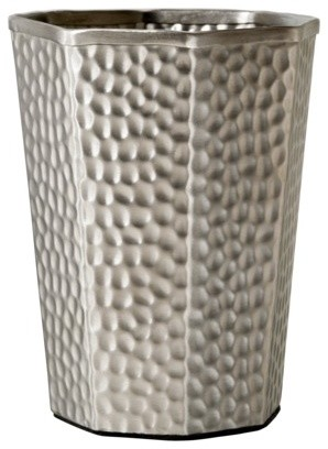 Hammered metal tumbler with metal band eclectic bathroom accessories by target for Hammered metal bathroom accessories