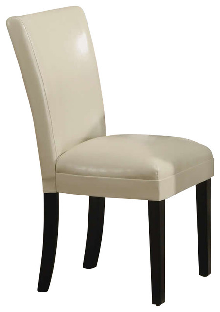 Coaster carter upholstered dining side chair in cream for Cream upholstered dining chairs