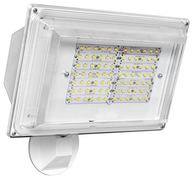 Led Wall Pack Flood Light: Transitional White Wall Pack 42 Watt Outdoor LED
