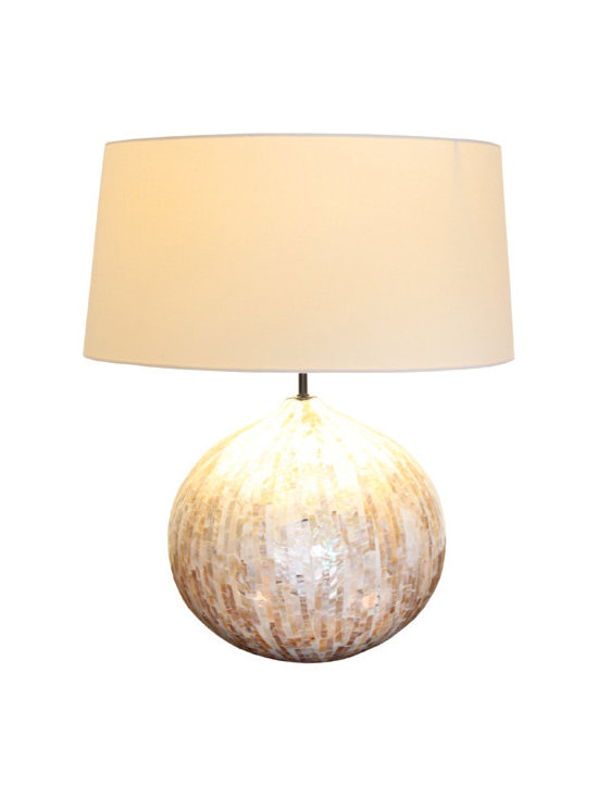 Cream Pearl Round Lamp -