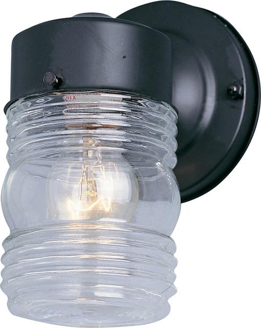 Maxim Lighting 92001CLBK 1-Light Outdoor Wall Mount transitional-outdoor-lighting