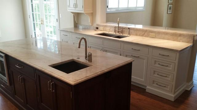 White Pearl Quartzite Countertops White Pearl Quartzite Kitchen