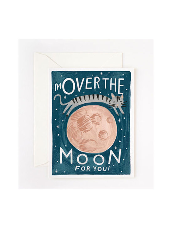 Over the Moon Card -
