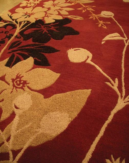 Rug: Wildflower Color: Red rugs