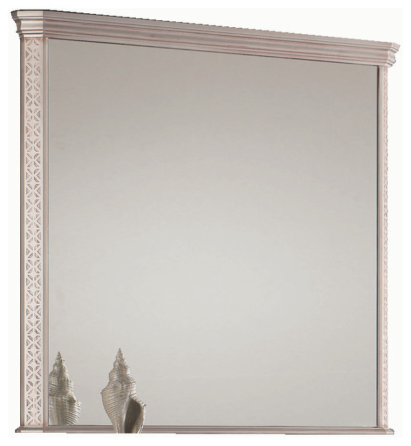 "London 40"" 1/2 mirror wall. Antique silver. traditional-bathroom-mirrors"