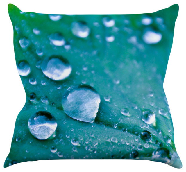 Modern Teal Decorative Throw Pillow : Iris Lehnhardt