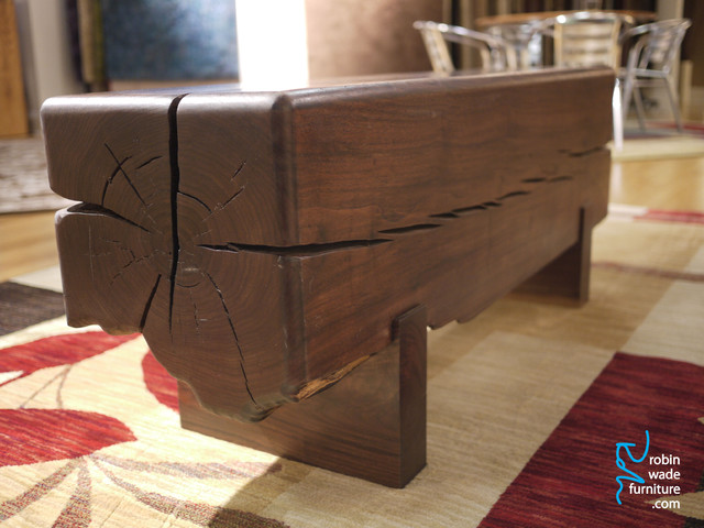 Walnut Benches eclectic-indoor-benches