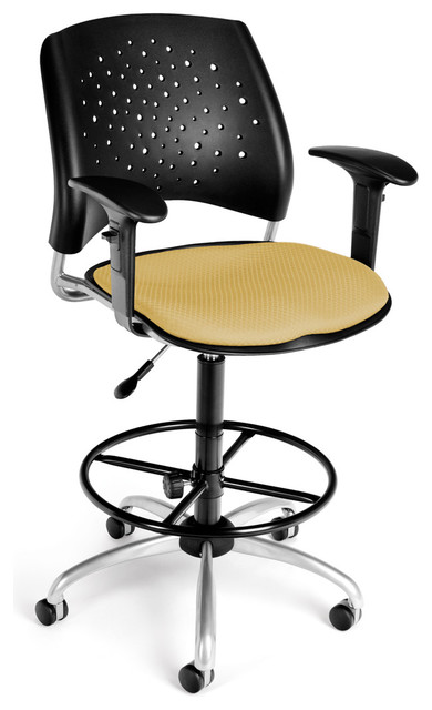 OFM - Golden Flax Modern Stars Drafting Chair With Adjustable Arms task-chairs