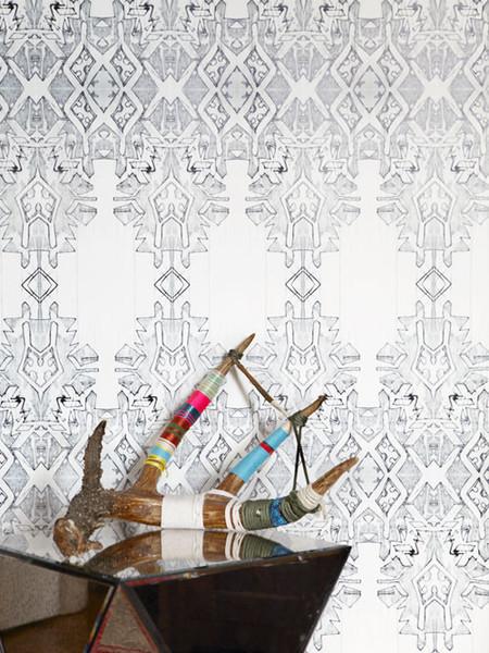 Akimbo 2 Grayscale Wallpaper eclectic-wallpaper