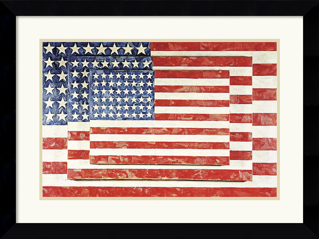 'Three Flags' Framed Print by Jasper Johns traditional-prints-and-posters