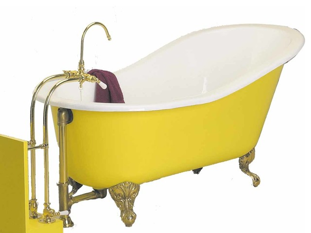 porcelain slipper claw foot tub only no feet