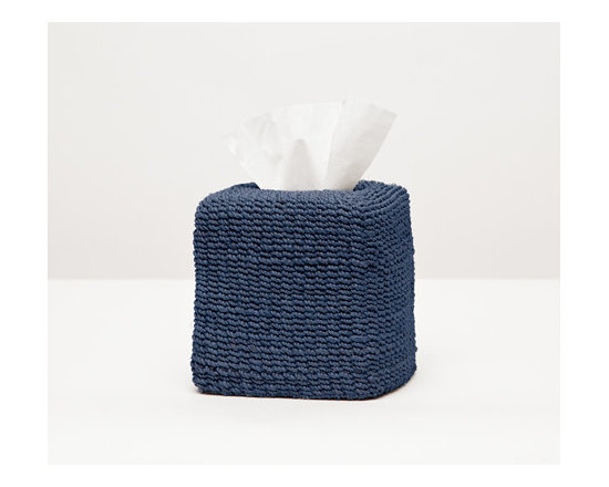 Chelston Tissue Box - Talk about elevated coziness. The delicately woven abaca of our softly structured Chelston collection brings a welcome warmth to any bath. Choose from four versatile colors.