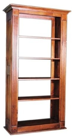 Adjustable Standard Shelf Tall Bookcase W Open Back Sky