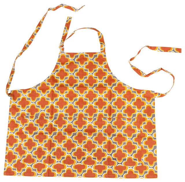 Marrakech Hostess Collection - Apron - Charcoal contemporary-aprons