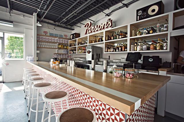 Parson's Chicken & Fish modern-dining-room