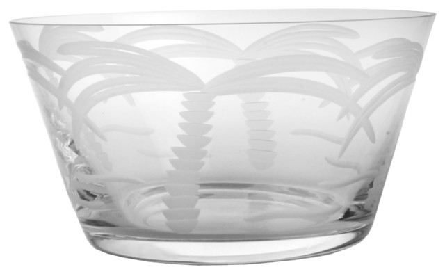 Palm Tree Clear Small Bowl 6 Set of 4 tropical-dining-bowls