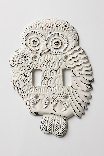 Hoot, Hoot Switch Plate, Double - Eclectic - Switch Plates And Outlet Covers - by Anthropologie