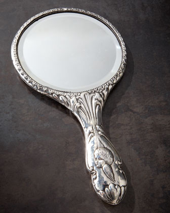 Sterling-Silver Hand Mirror, 1907 traditional-makeup-mirrors