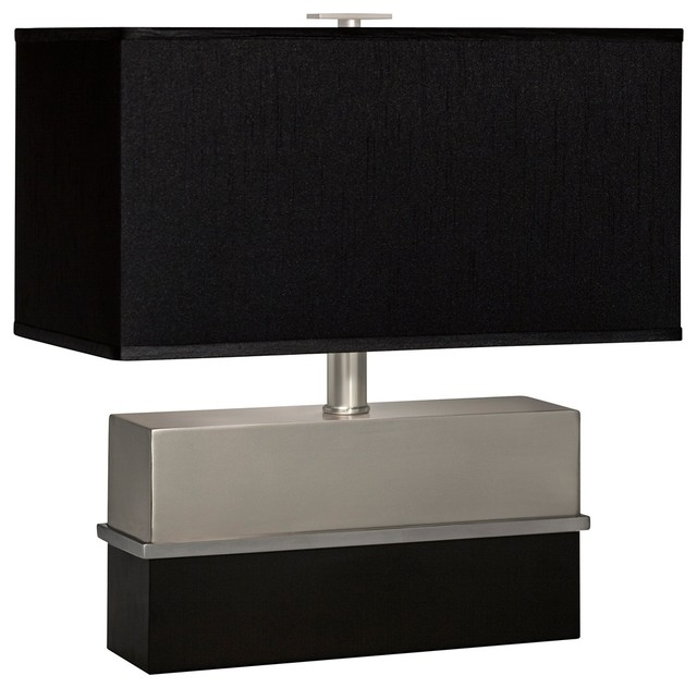 rectangular shade table lamp contemporary table lamps by lamps. Black Bedroom Furniture Sets. Home Design Ideas