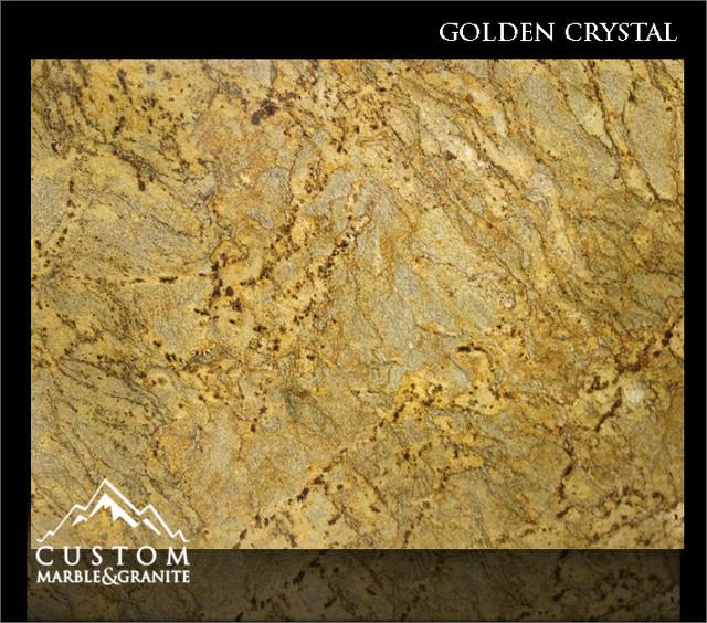 Golden Crystal Granite Slabs kitchen-countertops