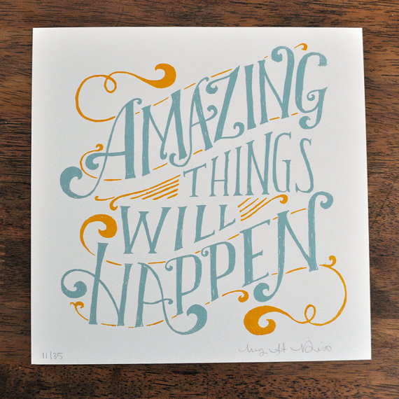 Amazing Things Will Happen by Mary Kate McDevitt eclectic-artwork