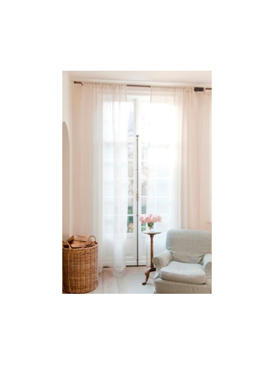Libeco - Sheer Linen Curtains- Casper - Libeco Belgian Linen Sheer Casper Curtain, available in various colors, tie top or rod top