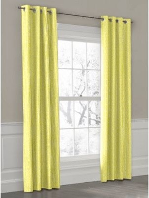 Lime Vine Stripe Custom Outdoor Drapery contemporary-outdoor-decor