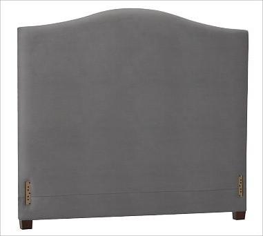 Raleigh Camelback Headboard, King, everydaysuede(TM) Metal Gray traditional-headboards