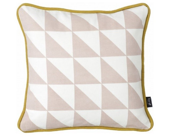 Ferm Living Organic Rose Little Geometry Pillow - Use the Little Geometry organic Pillow in Rose by Ferm Living to decorate your couches, beds and chairs. With different colors and different geometric shapes there is something here for everyone.