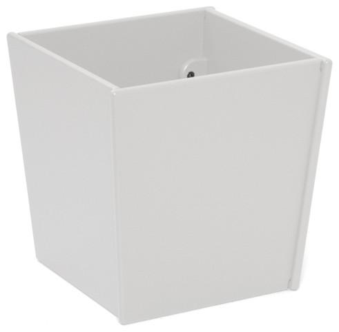 Loll designs cloud white taper square bin and planter for Loll planters