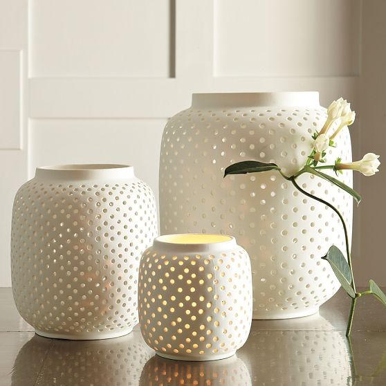 Porcelain Hurricanes, Dotted contemporary-candles-and-candleholders