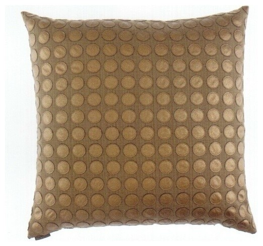 24quot x 24quot Love Game Bronze Circles Pattern Print Fabric  : transitional decorative pillows from www.houzz.com size 522 x 488 jpeg 71kB