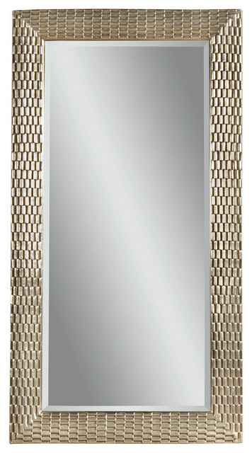 Silver Rectangle Floor Mirror Modern Mirrors By