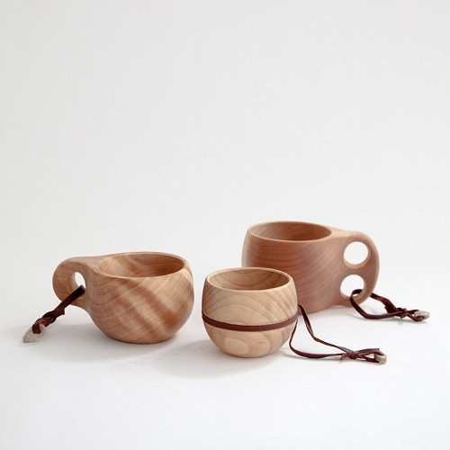 Kuksa Finnish Camping Cup, Arctic birch burl contemporary serveware