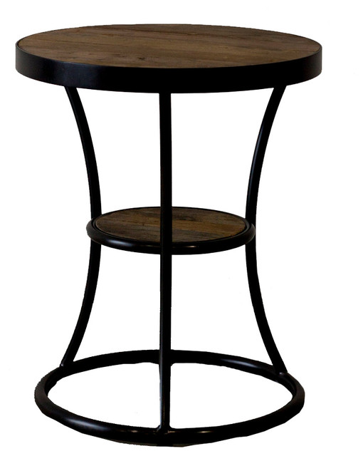 Milan Reclaimed Wood Round End Table