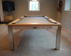Homes by Architect Show Dining Stainless Steel Pool Table