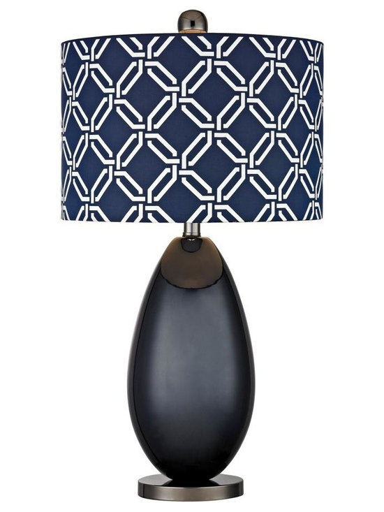 Dimond - One Light Navy Blue With Black Nickle Blue With White Pattern Print, S - One Light Navy Blue With Black Nickle Blue With White Pattern Print, S