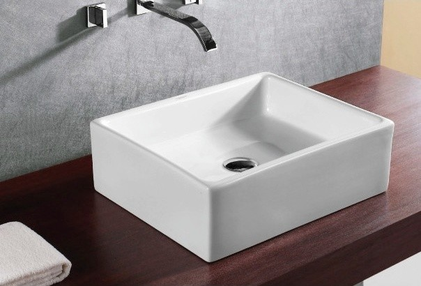 ... Ceramic Square Vessel Sink by Caracalla contemporary-bathroom-sinks