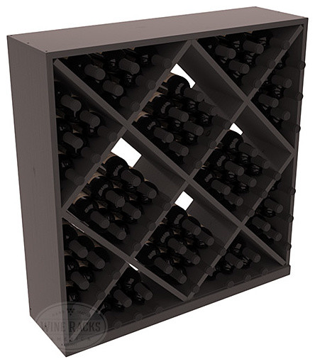 Solid Diamond Wine Storage Cube in Pine, Black + Satin Finish contemporary-wine-racks