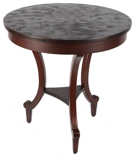 Round Textured Paxton Wood Side Table 24 Round Top Traditional Side Tables And End Tables