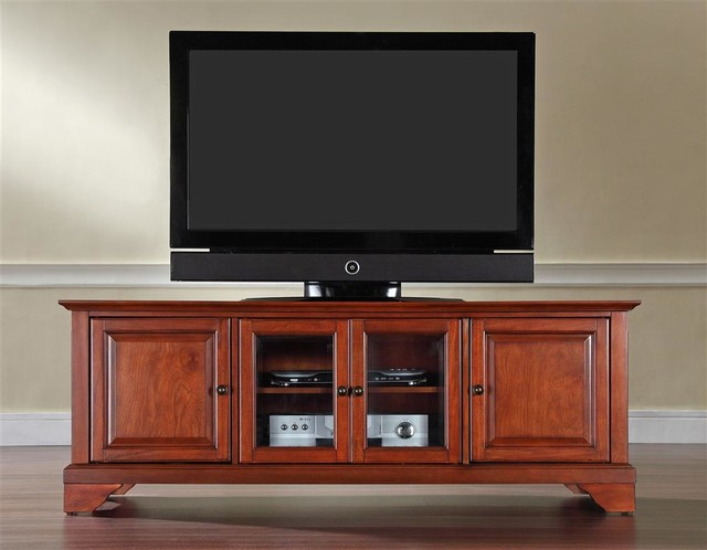 LaFayette 60 in. Wood Low Profile TV Stand w - Traditional - Entertainment Centers And Tv Stands ...