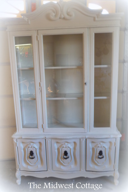 Upcycled French China Cabinet Traditional St Louis