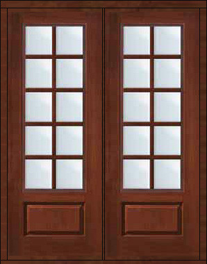 Prehung french double door 96 fiberglass 3 4 lite 10 lite for Fiberglass french doors