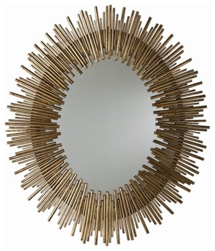 Prescott Iron Oval Mirror eclectic-wall-mirrors