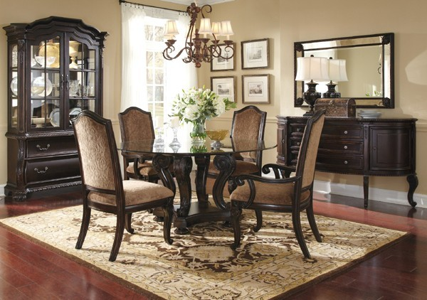 Dining Room Set ART 203224 1715TP BS ROOM Traditional Dining Tables