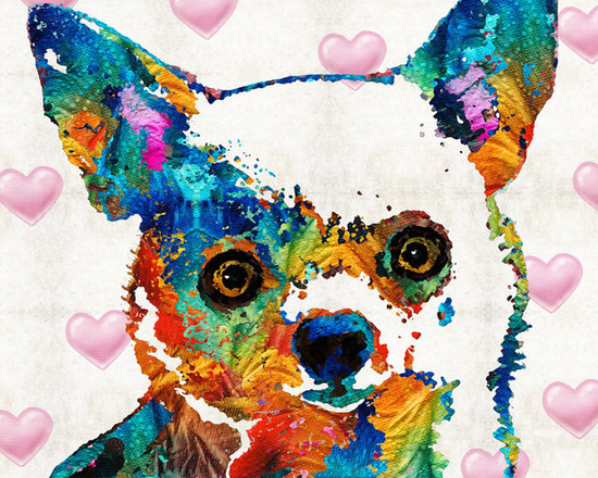Animals, Fish and Birds - Colorful Chihuahua Art by Sharon Cummings